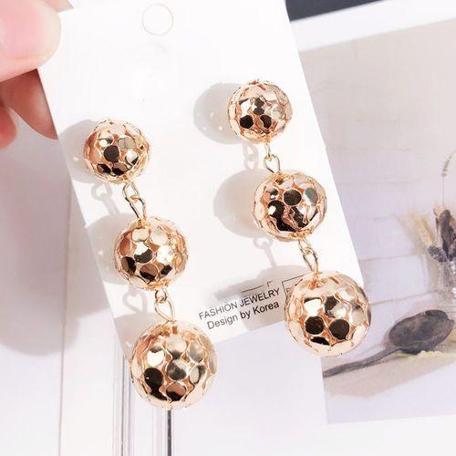 Kolczyki wiszące kule złote - złote marki Cloe