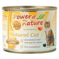 Power of nature natural cat jagnięcina karma dla kotów w puszce 12 x 200g