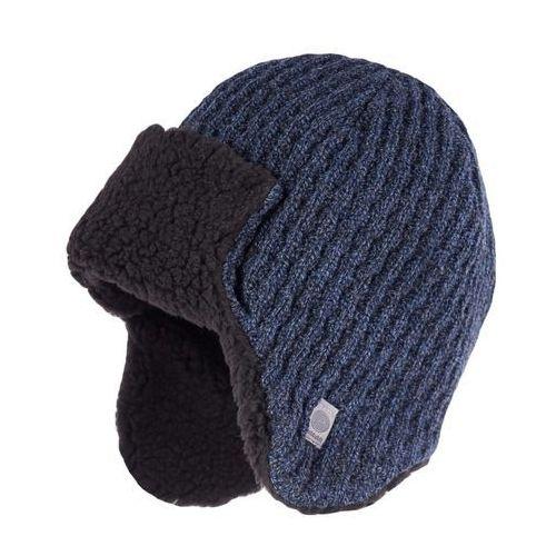 Pamami Zimowa czapka, uszatka męska - granatowa mulina - granatowa mulina