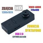 Szpiegowski guzik (hd), nagrywający obraz i dźwięk + rejestrator dźwięku + aparat foto... marki Spy elektronics ltd.