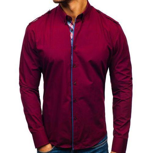 b4d6f1f9246ff9 ... Koszula męska elegancka z długim rękawem bordowa Bolf 1758 - Zdjęcie  produktu ...