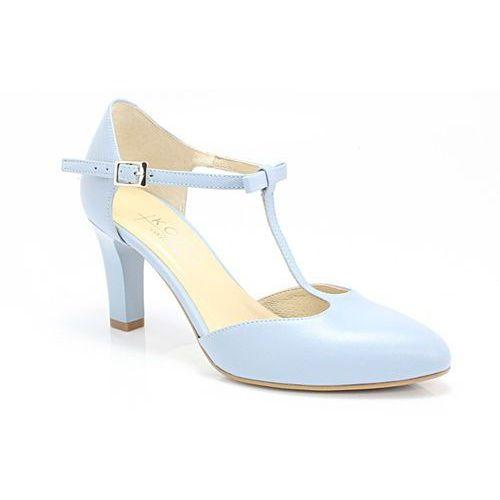 889 niebieskie - ślubne, taneczne, skóra - niebieski marki Kotyl