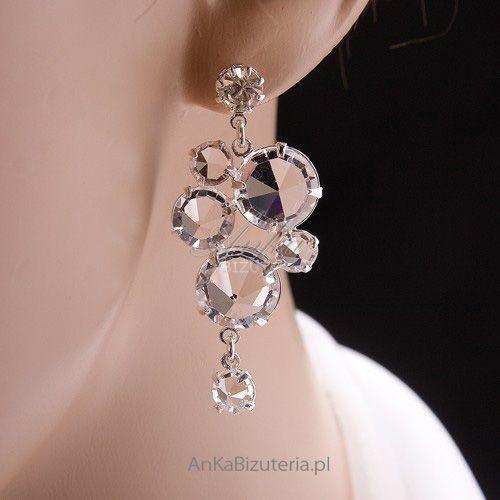 Ankabizuteria.pl komplet (naszyjnik, kolczyki, bransoletka) dla panny młodej i nie marki Anka biżuteria