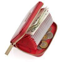 Mały skórzany portfel damski portmonetka