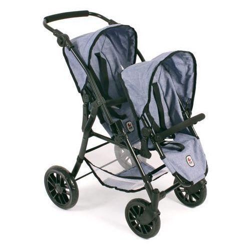 BAYER CHIC 2000 TANDEM Wózek sportowy dla lalek Twinny Jeans blue (4004181691503)