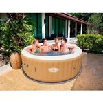 Beliani Przenośny dmuchany basen z hydromasażem dla 6 osób - palm springs
