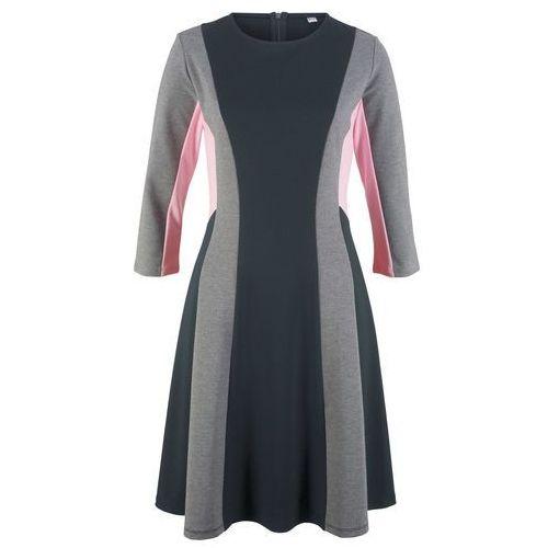 78afcd8894096e Zobacz w sklepie Bonprix Sukienka punto di roma, rękawy 3/4, z kolekcji  maite kelly czarno