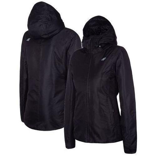 matowa czarna kurtka 4f damska