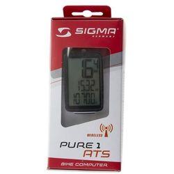 Licznik rowerowy sigma pure 1ats czarny, 03102