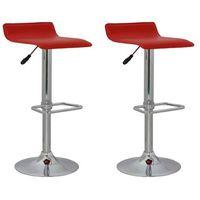 vidaXL Stołki barowe w kolorze czerwonym z podnóżkiem x2