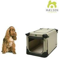 Maelson skrzynia dla psa Soft Kennel, czarny/beżowy, rozm. 72 (4260195040038)