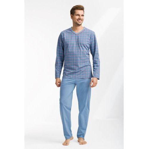 Piżama męska LUNA kod 795 w serek niebieski SIZE PLUS