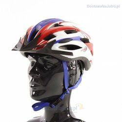 Kask rowerowy axer liberty red/blue z daszkiem marki Axer sport