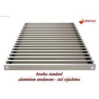 Kratka standard - 25/130  do grzejnika vk15, aluminium anodowane o profilu zamkniętym marki Verano