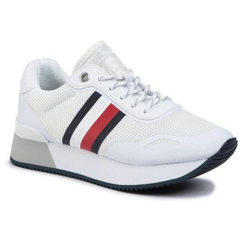 Sneakersy - mesh city sneaker fw0fw04606 white ybs marki Tommy hilfiger