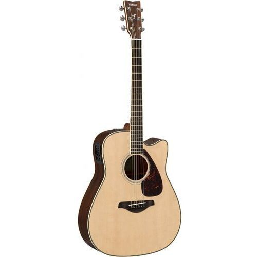 fgx 830 c nt gitara elektroakustyczna, solid top, cutaway, natural marki Yamaha