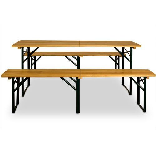 Ogromnie Meble do ogródka piwnego ogródek piwny ławki stół marki Wideshop WP73