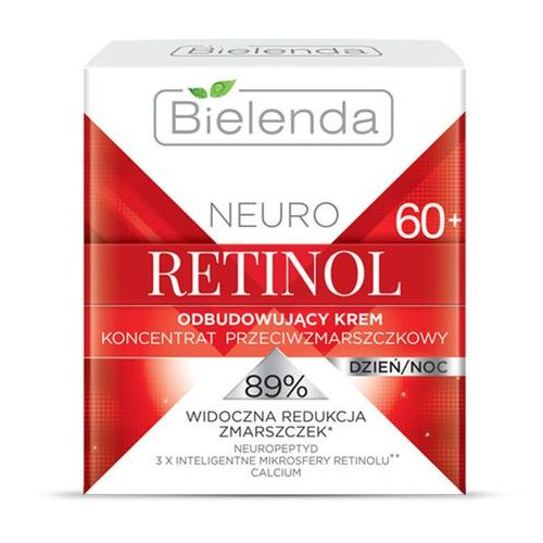 Bielenda neuro retinol odnawiający krem przeciwzmarszczkowy 60+ (neuropeptide, 3x intelligent microspheres retinol, calcium) 50 ml