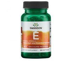 SWANSON Witamina E naturalna 400IU, 100sgels.