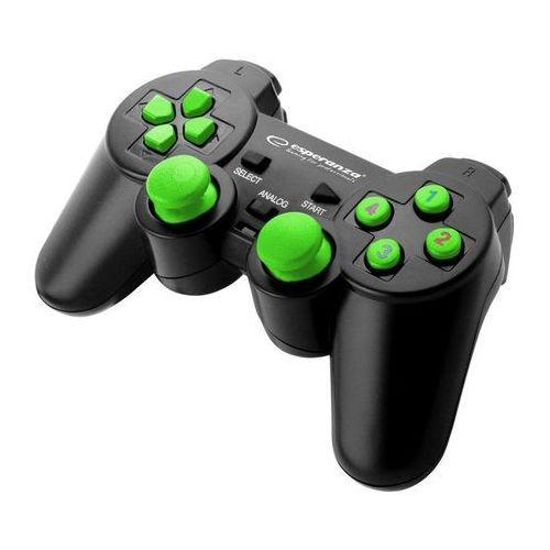 "Gamepad PC USB Esperanza ""Warrior"" czarno/zielony, EGG102G"