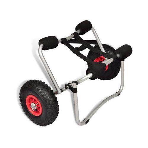 VidaXL Wózek do transportu kajaka, aluminiowy