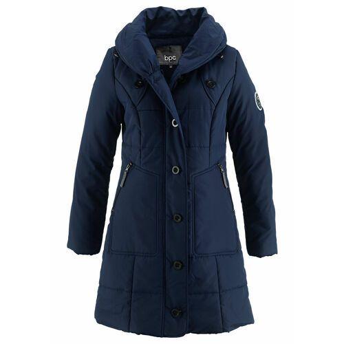 Bonprix Krótki płaszcz pikowany ciemnoniebieski