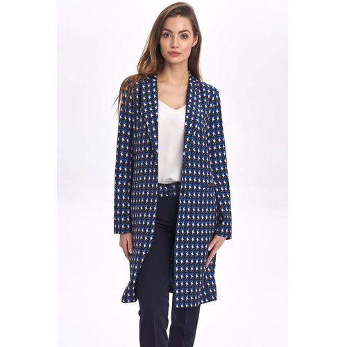 Klasyczny jednorzędowy płaszcz z wzorem, 1 rozmiar