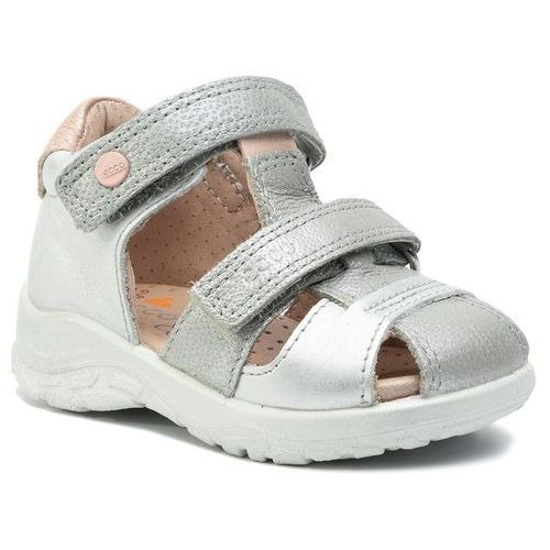 Sandały - peekaboo 75185151448 concrete/silver metallic marki Ecco