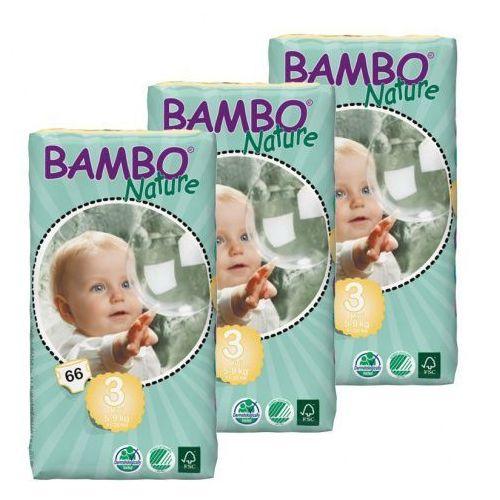 Bambo nature Eko pieluszki jednorazowe midi 5-9kg, karton (3op. x 66szt), abena