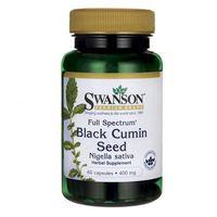 Kapsułki Swanson, Full Spectrum Black cumin seed, Nasiona czarnego kminku, 60 kapsułek - Długi termin ważności! DARMOWA DOSTAWA od 39,99zł do 2kg!