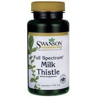 Kapsułki Swanson Milk Thistle Ostropest Plamisty 500 mg 100 kaps.