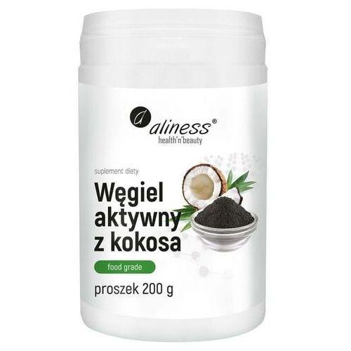 Proszek Węgiel aktywny z kokosa spożywczy Food grade 300 mg proszek 200 g Aliness