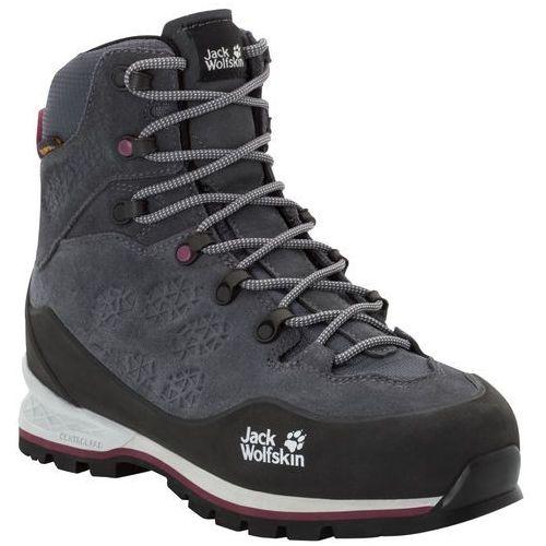 Jack wolfskin Buty trekkingowe damskie wilderness xt texapore mid w ebony / burgundy - 4,5 (4060477329734)