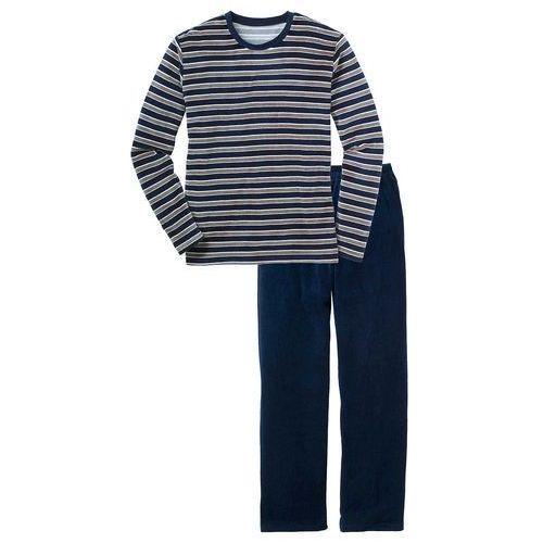 """Piżama """"nicky"""" ciemnoniebieski w paski marki Bonprix"""