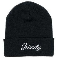 czapka zimowa GRIZZLY - Grizzly Script Beanie Blk (BLK)