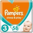 Pampers Pieluchy Sleep & Play 3 Midi Economy (6-10 kg) 174 szt. (3x58 szt.)