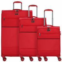 March15 Trading Easy 3-częściowy komplet walizek na 4 kółkach red ZAPISZ SIĘ DO NASZEGO NEWSLETTERA, A OTRZYMASZ VOUCHER Z 15% ZNIŻKĄ