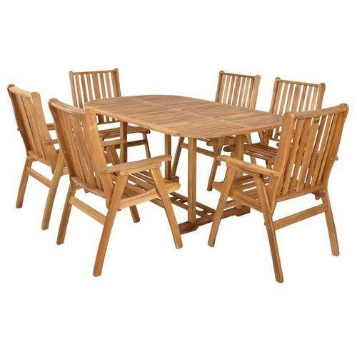 Hecht czechy Hecht rounded set meble ogrodowe zestaw mebli ogrodowych stół + 6 krzeseł drzewo akacja - ewimax oficjalny dystrybutor - autoryzowany dealer hecht (8595614904896)