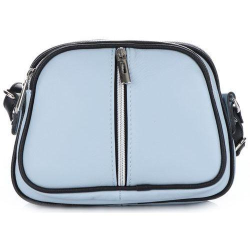 79633bc318357 Genuine leather Małe torebki skórzane listonoszki firmy błękitne (kolory)