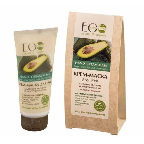 ECOLAB Krem/maska do rąk - organiczny olej avocado, proteiny kaszmiru, olej pistacjowy, prowitamina B5 - nie wymaga zmywania (bez silikonów i parabenów) 100ml