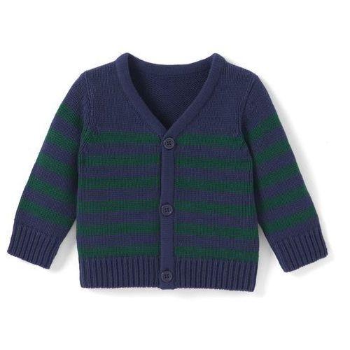Klasyczny, rozpinany sweter chłopięcy, Oeko Tex