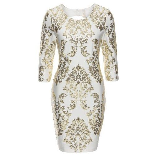bc776cf1f4 Sukienka z cekinami biało-złoty (bonprix) opinie + recenzje - ceny w ...
