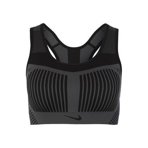 NIKE Biustonosz sportowy 'Women's Nike FE/NOM Flyknit High Support Sports Bra' ciemnoszary / czarny, AJ4047