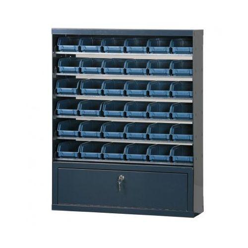 Szafki z plastikowymi pojemnikami i szufladą, 36 boksów marki Artplast