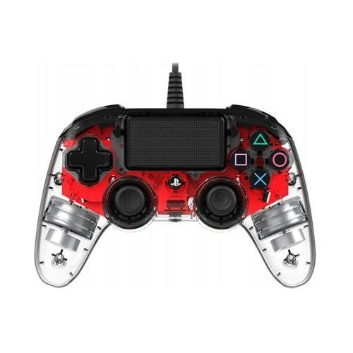 Nacon Kontroler compact controller świecący czerwony (3499550360837)