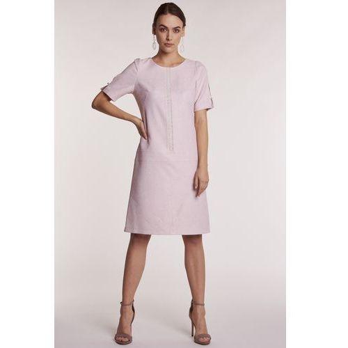 d7152abca4 Zobacz ofertę Różowa sukienka z perełkami paris Poza