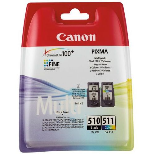 tusz pg-510/cl-511=pg510/cl511=2970b010, zestaw bk+kolor, pg-510+cl-511- wysyłka dziś do godz.18:30. wysyłamy jak na wczoraj! marki Canon