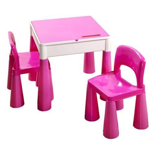 Cosing zestaw tega mamut: stołek + 2 krzesełka, różowy