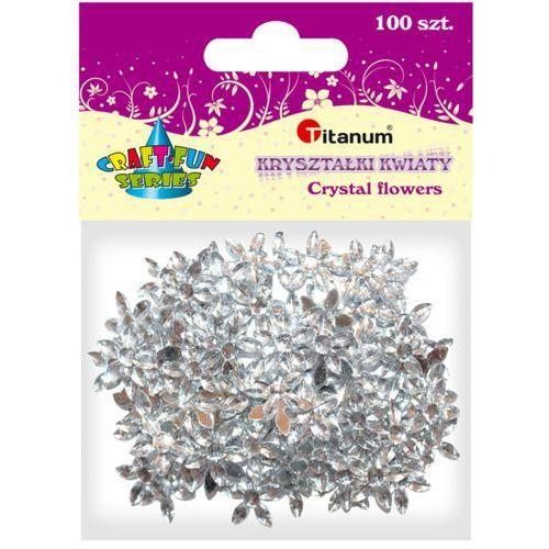 Dodatek dekoracyjny Craft-fun kwiaty kryształki 17mm (DG012) % BPZ