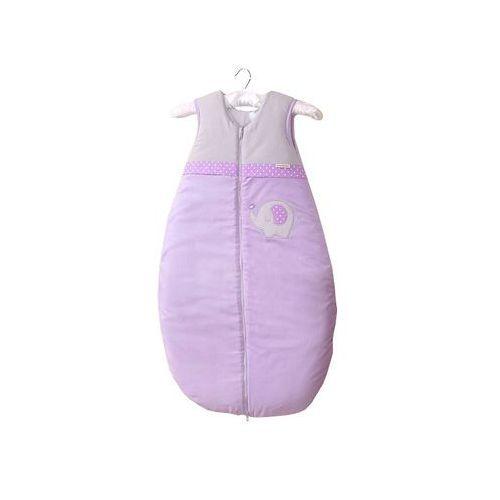 Mamo-tato śpiworek niemowlęcy do spania do 18 m-ca haftowany słonik fioletowy